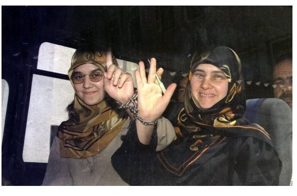 Huda Kaya (r) and Nurcihan Saatcioglu (l)