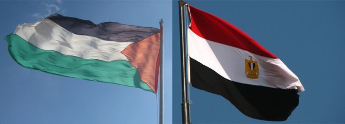 Palestine and Egpt flags