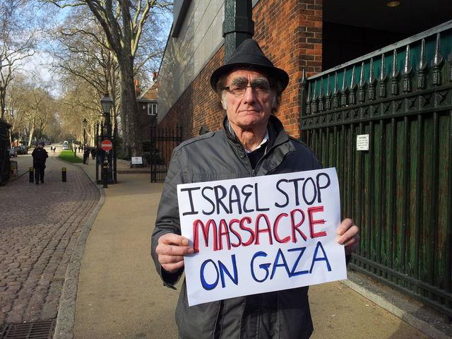 Protest outside Israeli embassy
