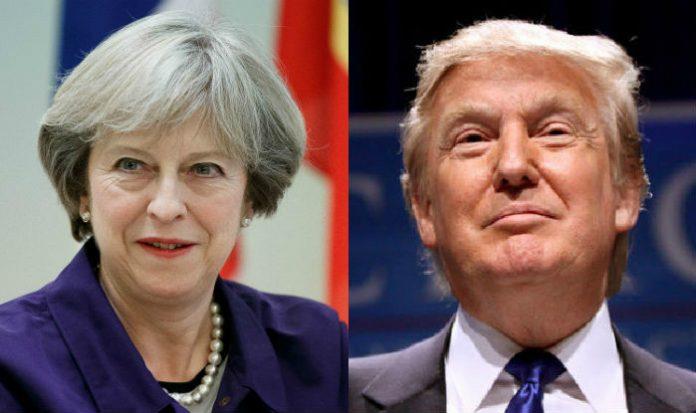 Theresa-May-Donald-Trump
