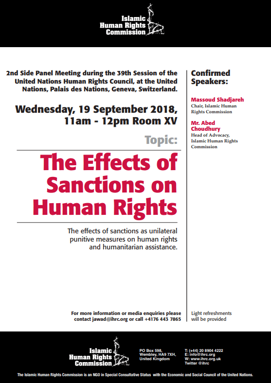 United Nations Side Panel: The Effects of Sanctions on Human