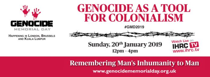 """UK Event: Genocide Memorial Day 2019 – """"Genocide as a tool"""